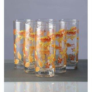 Green Apple Tangerine Long Glasses - Set of 12