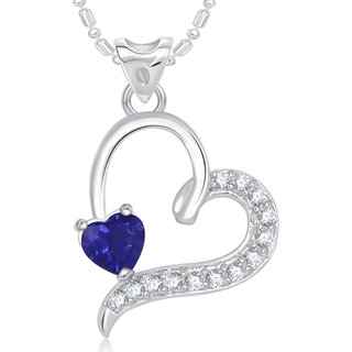 VK Jewels Affection Heart Valentine Rhodium Plated Pendant  - P1719R VKP1719R