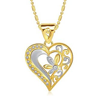 Buy vk jewels design in heart gold and rhodium plated pendant vk jewels design in heart gold and rhodium plated pendant p1444g vkp1444g aloadofball Gallery
