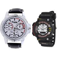 Thump Trendy set of 2 analog digital watches