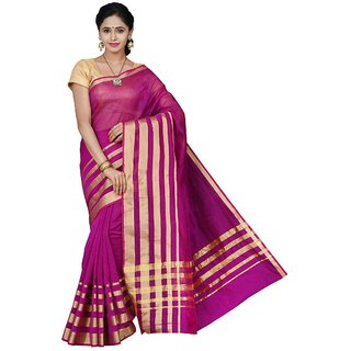 Korni Cotton Silk Banarasi Saree TF-1026- Pink KR0380