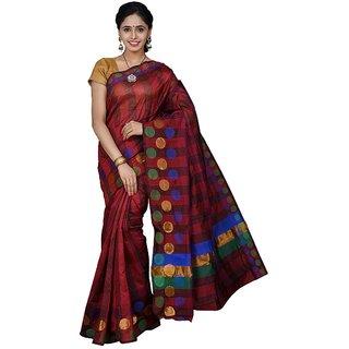 Korni Cotton Silk Banarasi Saree SS-342- Maroon KR0385