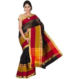 Korni Cotton Silk Banarasi Saree KO-2602-Black KR0373