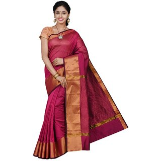 Korni Cotton Silk Banarasi Saree TF-1021- Maroon KR0394