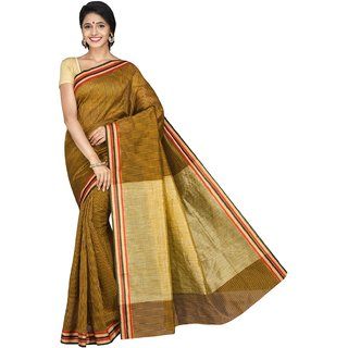 Korni Cotton Silk Banarasi Saree TF-1037- Brown KR0420