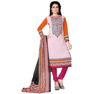 SDM Unstitched Indian Dress Material Salwar Suit Printed Pure Crepe