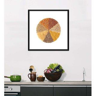 Tallenge Art For Kitchen - A Circle Of Day-To-Day Food - Ready To Hang Framed Art Print