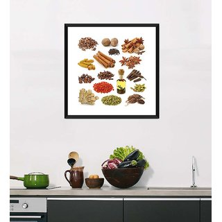 Tallenge Art For Kitchen - Amazing Spices Of India - Ready To Hang Framed Art Print
