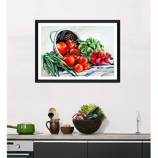 Tallenge Art For Kitchen - Fresh And Healthy Diet - Ready To Hang Framed Art Print