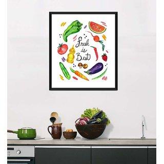 Tallenge Art For Kitchen - Fresh Is Best - Ready To Hang Framed Art Print