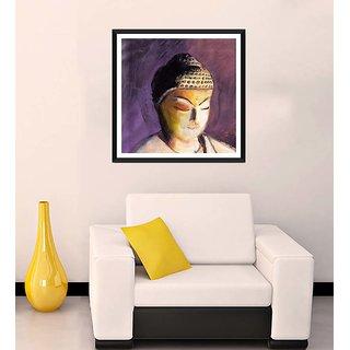 Tallenge - Buddha In Purple - Ready To Hang Framed Art Print