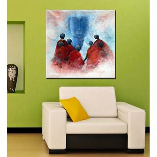 Tallenge - Buddha With Disciples - Ready To Hang Gallery Wrap Canvas Art Print