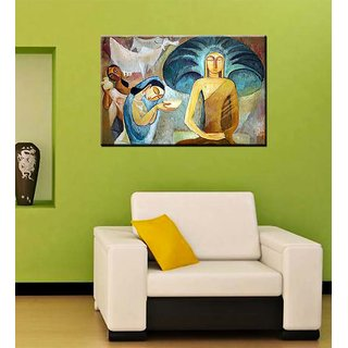 Tallenge - Sujatha Offering Buddha His First Meal - Ready To Hang Gallery Wrap Canvas Art Print