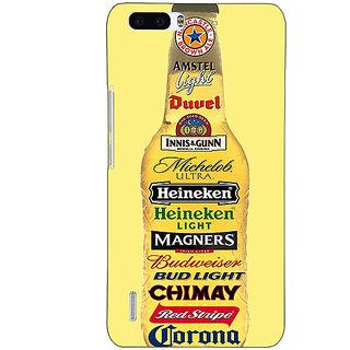 EYP Beer Bottle Back Cover Case For Honor 6 Plus