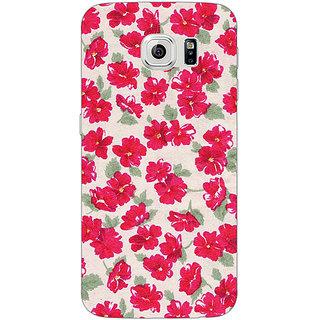 EYP Floral Pattern  Back Cover Case For Samsung S6