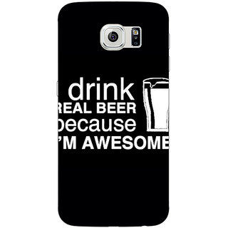EYP Beer Quote Back Cover Case For Samsung S6