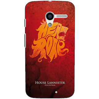 EYP Game Of Thrones GOT House Lannister  Back Cover Case For Moto X (1st Gen)