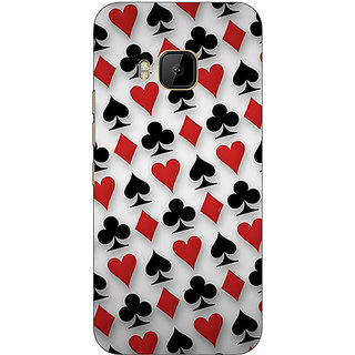 EYP Club Spade Diamond Heart  Back Cover Case For HTC M9