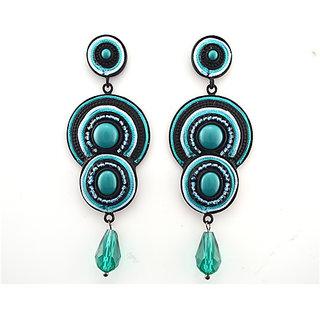 Handmade Beaded Dangle Disk Earrings Maasai Seed Beads