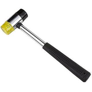 DIYming Striking Black Handle Rubber Mallet Hammer Tool DIYming Striking Black H