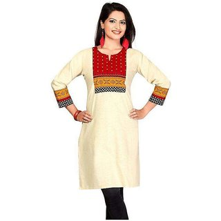 Cotten Printed Kurti With Multi Colour