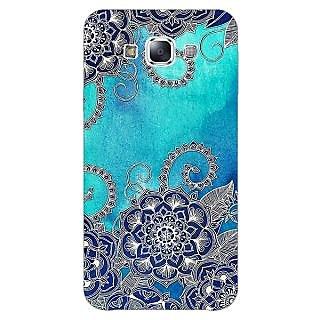EYP Blue Doodle Pattern Back Cover Case For Samsung A8