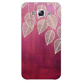 EYP Golden Leaves Pattern Back Cover Case For Samsung A8