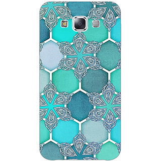 EYP Floral Hexagons Pattern Back Cover Case For Samsung A8