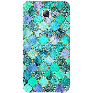 EYP Sky Blue Morocan Tiles Pattern Back Cover Case For Samsung A8