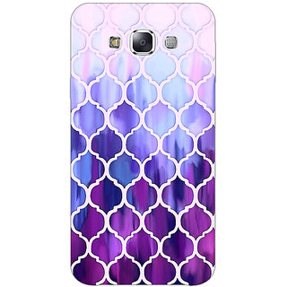 EYP White Purple Moroccan Tiles Pattern Back Cover Case For Samsung A8