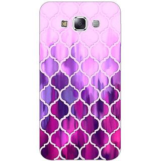 EYP Pink Magenta Moroccan Tiles Pattern Back Cover Case For Samsung A8