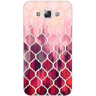 EYP White Red Moroccan Tiles Pattern Back Cover Case For Samsung A8