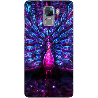 EYP Paisley Beautiful Peacock Back Cover Case For Huawei Honor 7