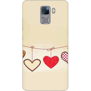 EYP Hearts Back Cover Case For Huawei Honor 7