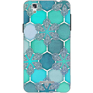 EYP Floral Hexagons Pattern Back Cover Case For Micromax Yu Yureka