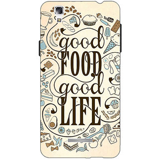 EYP Good Food Quote Back Cover Case For Micromax Yu Yureka