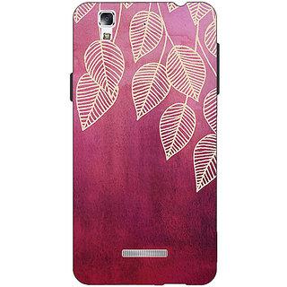 EYP Golden Leaves Pattern Back Cover Case For Micromax Yu Yureka