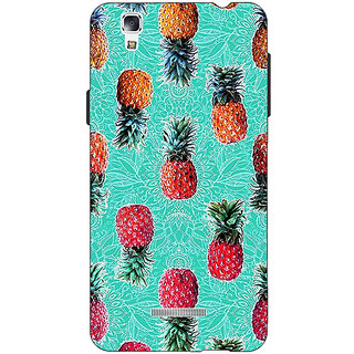 EYP Pineapple Pattern Back Cover Case For Micromax Yu Yureka