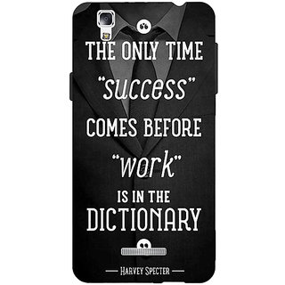 EYP SUITS Quotes Back Cover Case For Micromax Yu Yureka