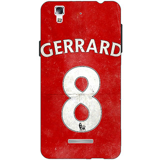 EYP Liverpool Gerrard Back Cover Case For Micromax Yu Yureka