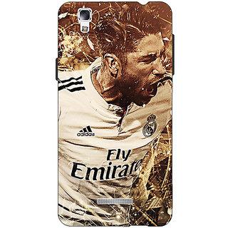 EYP Real Madrid Sergio Ramos Back Cover Case For Micromax Yu Yureka