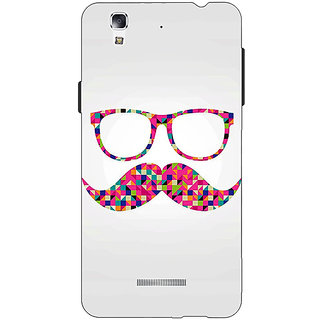 EYP Mustache Back Cover Case For Micromax Yu Yureka