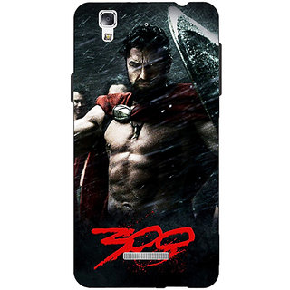 EYP King Leonidas Spartan Back Cover Case For Micromax Yu Yureka