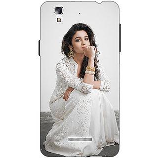 EYP Bollywood Superstar Alia Bhatt Back Cover Case For Micromax Yu Yureka