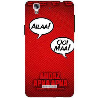 EYP Bollywood Superstar Andaz Apna Apna Back Cover Case For Micromax Yu Yureka