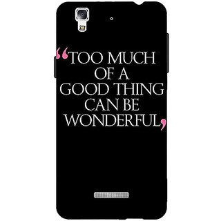 EYP Quote Back Cover Case For Micromax Yu Yureka