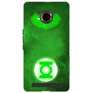 EYP Superheroes Green Lantern Back Cover Case For Micromax Yu Yuphoria