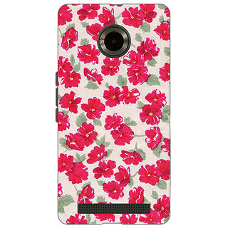 EYP Floral Pattern  Back Cover Case For Micromax Yu Yuphoria