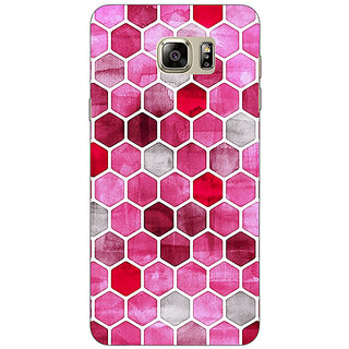 EYP Red Hexagons Pattern Back Cover Case For Samsung Galaxy Note 5