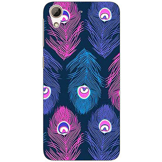 EYP Feather Pattern Back Cover Case For HTC Desire 626G+